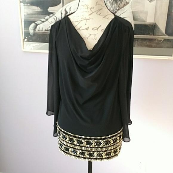 7dede6f3a1e MSK plus size drape neck blouse